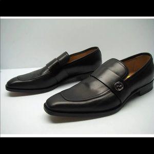 GUCCI Broadwick Leather GG Interlock Loafer US 8